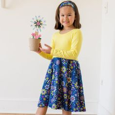 """""""Roots and STEMs"""" Math Garden Twirly Play Dress with Long Sleeves Toddler Outfits, Kids Outfits, Sunny Dress, Amelia Rose, Math Stem, Girl Empowerment, Play Dress, Girls Be Like, Dress Making"""