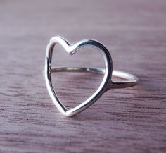 Sterling Silver Heart Ring - Open Heart by Scape on Etsy https://www.etsy.com/uk/listing/61993347/sterling-silver-heart-ring-open-heart