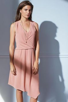 Buy Peach Drape Dress online today at Next: Israel