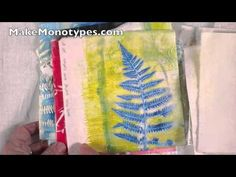 ▶ Monoprints cotton fabric with screen printing inks - YouTube See what is possible monoprinting on fabric with Linda Germain and the glycerin and gelatin plate