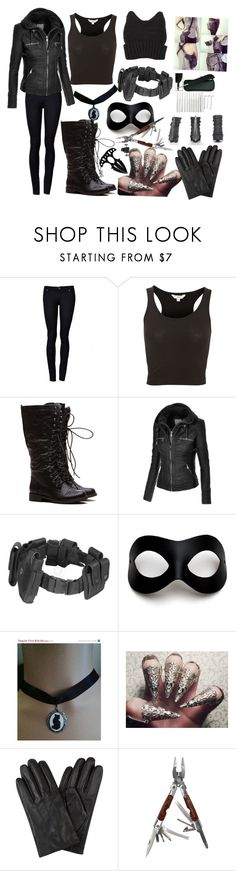 """""""Kitten cat woman's protege"""" by demigodgirl3 ❤ liked on Polyvore featuring POLICE, Masquerade, Retrò, Ted Baker, McFarlane and Handle"""