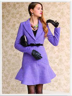 Morpheus Boutique  - Purple Flare Long Sleeve Ruffle Coat, CA$194.85 (http://www.morpheusboutique.com/purple-flare-long-sleeve-ruffle-coat/)
