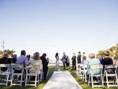 Wedding venue: Couple hold wedding ceremony at Clifton Gardens, Mosman #weddings #bride #groom #ceremony