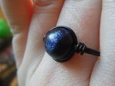 Blue Goldstone Pendant  Starry night Sparkles  by JbellsGems, $9.00