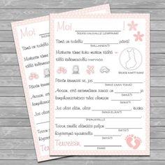 Viesti vauvalle, vaaleanpunainen Tonne, 1 Year Olds, Birthday Balloons, Wedding Planner, Bullet Journal, Ink, Air Balloon, Wedding Planer, India Ink