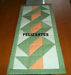 FELIZARTES: Caminho de mesa em patchwork