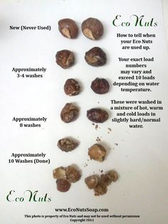 How to tell when soap nuts are used up! I'm gonna need to use this when my new washer and dryer & my soap nuts get here!