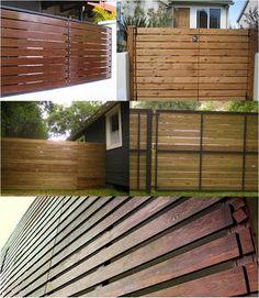 Wood gates with metal framing