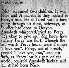 Okay. I have mixed feelings about this. I'll just say my main thought: POOR ANNABETH.