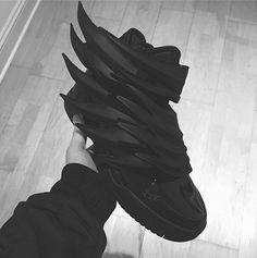 Black Jeremy Scott x Adidas Sneakers