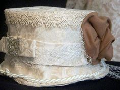 Ladies Hat BUCKINGHAM Special occasion formed hat size by tamilyn, $84.99