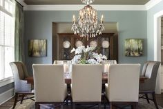 love the wall and ceiling color- maybe my dining room...