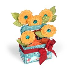 Flower Basket Card in a Box Bloom with possibilities! This Flower Basket Card in a Box will help grow your creativity with your pick of perfectly cut flowers.