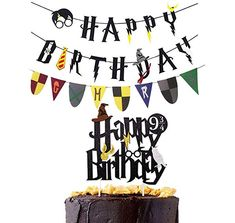 Harry Potter Happy Birthday Cake Topper Bunting Party Decoration Anniversary E3