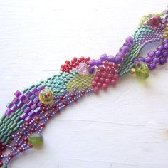 KSInspirations' -  Freeform Peyote Bracelet 2 on Craftsy