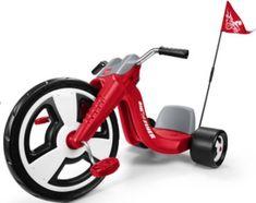 "Boys Red Tricycle Trike Bike Big 16"" Wheel Radio Flyer Sport Chopper Style Toy"