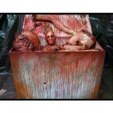 Foam cooler - I'm gonna have to add this to my butcher shop, perhaps outside the entrance.....