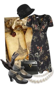 """""""The Black Vintage"""" by weeyz ❤ liked on Polyvore"""