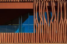 Corten Steel Sculptural Wall by Atelier Fernandez & Serres in Banylous sur Mer - France. See more at www.shapedscape.com ~ The NEW Platform for Landscape Architecture and related industries.