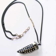 Nepalese Horn Pendant Necklace