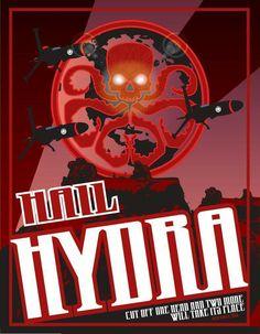 Hydra Symbol Hail Hydra Marvel Agenets Of Shield Marvel Comics Work Shirt S-XXL