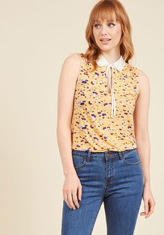Snapshot of a Stylista Tank Top in Yellow