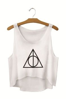 Best price on Woman's Crop Top with Deathly Hallows from Harry Potter  See details here: http://worldofharry.com/product/2015-harajuku-fashion-sexy-womans-crop-tops-cheap-clothes-desigual-summer-tops-deathly-hallows-harry-potter/      Check the price and Customers' Reviews: http://worldofharry.com/product/2015-harajuku-fashion-sexy-womans-crop-tops-cheap-clothes-desigual-summer-tops-deathly-hallows-harry-potter/  #HarryPotter #Potter #HarryPotterForever #PotterHead #jkrowling #hogwarts…