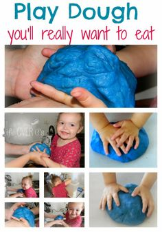 An absolutely irresistible play dough recipe! Smells and tastes great! #kids #sensory #spd