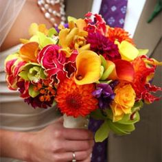 Like the types of flower but need less warm tones and more deep green, purples, pinks, blues etc