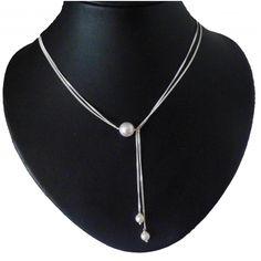 edel Sterling Silbercollier Y - Ornara Design Brautschmuck