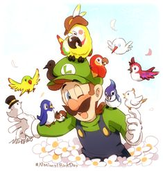 I know I am late af but still, Happy National Bird Day🐦 Birds are my favourite animals in the world~ Thanks to Nintendo for creating so many different birds in SMO! Super Mario Smash, Super Mario Nintendo, Super Mario And Luigi, Super Mario Art, Super Mario World, Super Mario Brothers, Mario Bros., Super Smash Bros, Mario Party
