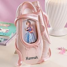 A ballet shoe picture frame