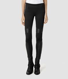 Womens Lindsell Leather Biker Pant (Black) - product_image_alt_text_1