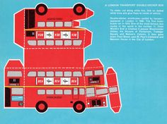 Free Printable Double-Decker London Bus While trying to manage the glue, my memories take a ride...