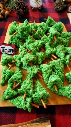 rice crispy treat pine trees
