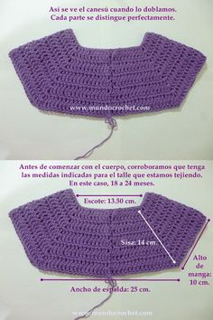 Como tejer un saco, campera, cardigan o chambrita a crochet o ganchillo desde el This will work to start some of the dresses with no patterns. Cardigan Au Crochet, Cardigan Bebe, Gilet Crochet, Crochet Yoke, Crochet Girls, Crochet Baby Clothes, Crochet For Kids, Easy Crochet, Crochet Stitches