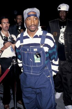 The 26 Best Denim Moments in Fashion, Presented by Jean Stories – Vogue - Tupac Shakur
