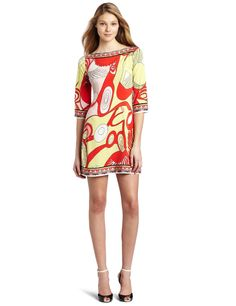 Julie Dillon Women's 3/4 Sleeve Lobster Jersey Shift Dress      Price: 	$187.00