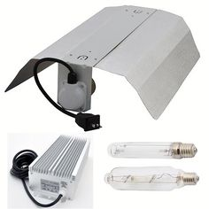 LEDwholesalers GYO2004 4Piece 600 Watt Hydroponic Reflector Grow Light Set ** Check out the image by visiting the link.