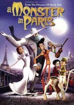 A Monster in Paris (DVD)--Paris,1910. Emile, a shy movie projectionist, and Raoul, a colorful inventor, find themselves embarked on the hunt for a monster terrorizing citizens. They join forces with Lucille, the big-hearted star of the Rare Bird cabaret, an eccentric scientist and his irascible monkey to save the monster, who turns out to be an oversized but harmless flea, from the city's ruthlessly ambitious police chief.