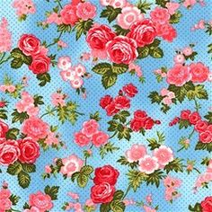 Custom for Julie 3 Yards Rose In A Round Fabric Shabby Chic Fabric Floral Quilt Fabric Baby Blue by acquiltfabric on Etsy