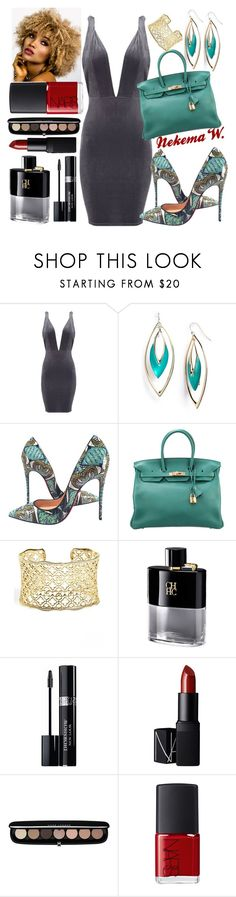 """👫🍷🍝"" by sexyshonda ❤ liked on Polyvore featuring Alexis Bittar, Christian Louboutin, Hermès, Kendra Scott, Christian Dior, NARS Cosmetics and Marc Jacobs"