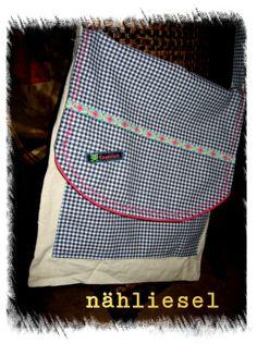 neue Tasche aus altem Jutestoffbeutel mit Werbung