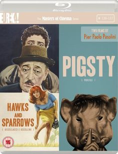 2 Films by Pier Paolo Pasolini: Hawks and Sparrows (Uccellacci e uccellini) / Pigsty (Porcile) - Blu-Ray (Masters of Cinema Region B) Release Date: Available Now (Amazon U.K.)