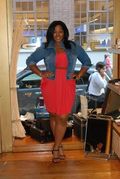 Curvy Girl Fashion>>love this outfit. And a fitted denim jacket? Curvy Girl Fashion, Plus Size Fashion, Casual Outfits, Cute Outfits, Vestidos Plus Size, Mode Plus, Plus Size Beauty, Looks Style, The Dress