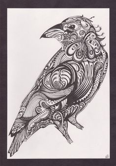 Oh my beautiful paisley bird...I want you inked on my body right now! O:-)