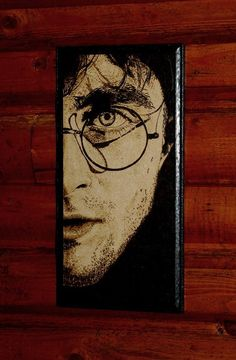Harry Potter art - woodburned home decoraion....omg I have this in the living room!!!