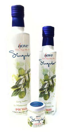 AOVE Singular || Variedad Picual.  500 ml 250 ml y caviar de AOVE Singular  500 ml 250 ml and the very unique EVOO Caviar Singular