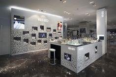kenzo_parfums / ブランドロゴで作った鳥の巣のような販売カウンター