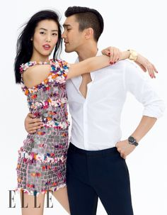 Liu Wen poses alongside her 'We Are in Love' co-star Choi Siwon for the June 2015 cover story of ELLE China. The Chinese model certainly looks ready for summer with brightly colored looks including lace and tulle embellished skirts. Photographed by Zack Zhang and styled by Katherine Cao, Liu and Choi show off perfect chemistry for the glossy feature.  Pages: 1 2 Enjoyed this update?Stay ...